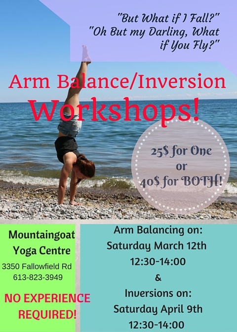 Arm Balance-Inversion Workshop- MGY